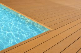 Havuz Kenarı Ahşap Kompozit Deck Kaplama Modelleri
